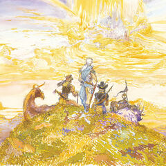 Image Sketch <small>(1990)<br />Final Fantasy III<br />Acrylic, colored ink<br />485x645mm, p.134-135</small>
