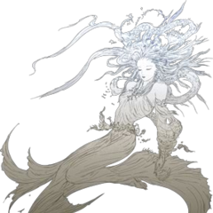 Artwork of Cosmos in <i>Dissidia 012 Final Fantasy</i>.
