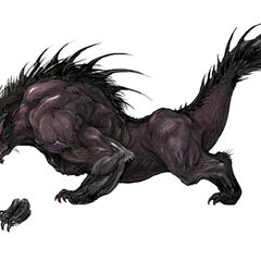 Concept art of a Behemoth for <i>Final Fantasy XIV</i>.