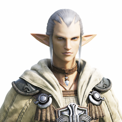 Elezen male CG bust, used in the Legacy opening cinematic.