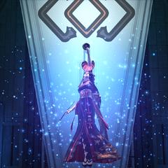 Yotsuyu summoning Tsukuyomi in <i><a href=