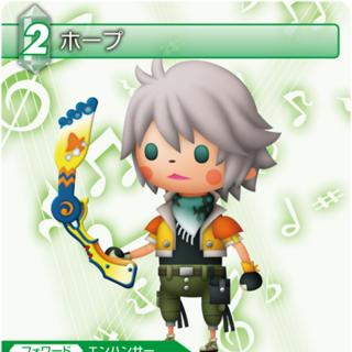 Trading card of Hope's <i>Theatrhythm Final Fantasy</i> appearance.
