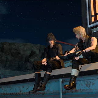 An optional scene with Noctis and Prompto at the motel in Leide.