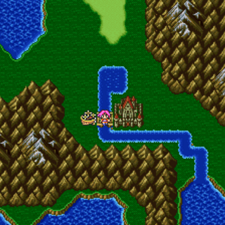 The Sealed Castle in the World Map in the Merged World (GBA).