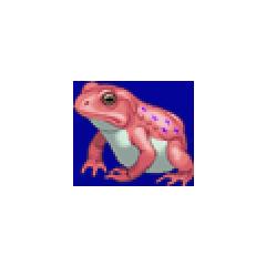 Frog portrait for Ursula, Porom, Luca, Calca, and Brina in <i><a href=