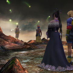 Lulu overhears Wakka talking to Chappu's spirit.