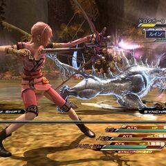 Serah's long-range attack.