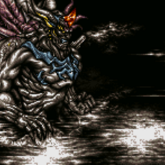 Statues battle background (SNES).