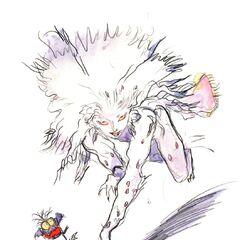 Рисунок Терры в форме Эспера работы Ёситаки Амано.