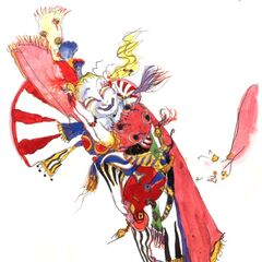 Chibi Kefka with Gau by <a href=