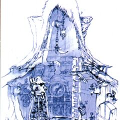 Black Mage Village Clock House.