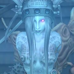 Крупный план Дженовы в <i>Crisis Core -Final Fantasy VII-</i>.