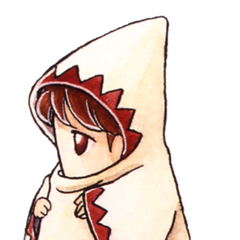 Kazuko Shibuya artwork of a White Mage for <i>Final Fantasy IV</i> (SNES).