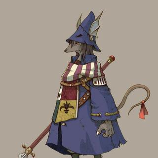 Concept art of a Burmecian <a href=