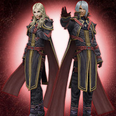 Kurasame outfit obtained using a serial number received from a purchase of the <i>FF Type-0 Gaiden</i> manga.