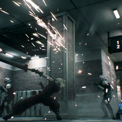 Shinra troops fought as enemies in <i>Final Fantasy VII Remake</i>.