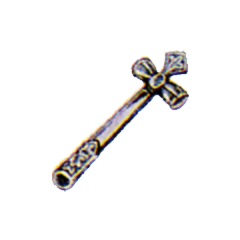 Official art of Mythril Hammer from <i>Final Fantasy</i>.