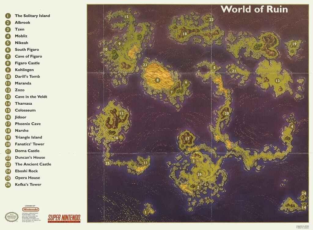 World Of Ruin Map World of Ruin (Final Fantasy VI) | Final Fantasy Wiki | FANDOM
