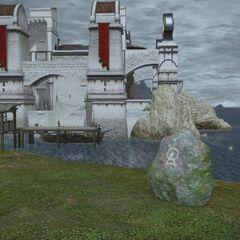 Perdra de Nymeia em <i>Final Fantasy XIV</i>.