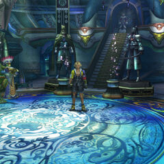 Inside Macalania Temple in <i>Final Fantasy X</i>.