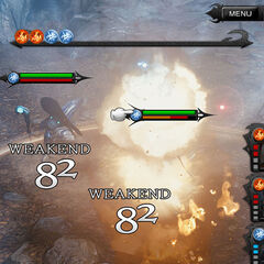 Magic ability during battle.