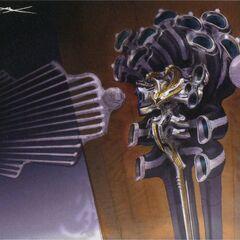 Obra de Garuda de como ele iria aparecer em <i>Final Fantasy XIII</i>.