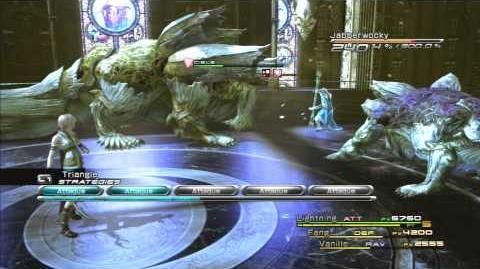 Final Fantasy XIII Combat contre Jabberwocky et Bandersnatch