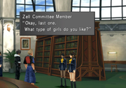 Library Girls Love Survey from FFVIII Remastered