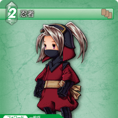 Trading Card of Luneth as a Ninja.