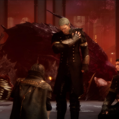 Cerberus slain in <i>Final Fantasy XV</i> (<i>Royal Edition</i>).