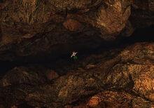 Dyne falls off a cliff