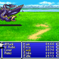 Kain as a toad in <i>Final Fantasy IV</i> (GBA).