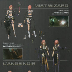 Concept art of Mist Wizard, L'ange Noir, and Dragoon.