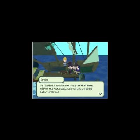 Captain Drake speaking to Jusqua.