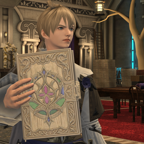 Ramza with a copy of Durrai Papers.
