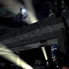 Вид из-под мидгарского шоссе в FMV из<i>Final Fantasy VII</i>.