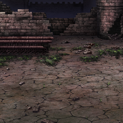 Ancient Castle battle background in <i><a href=