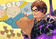 FFXIV 2019 New Year Artwork