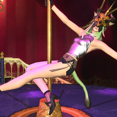 A pole dancer in Eulmore.