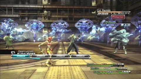 Final Fantasy XIII Combat contre Cid Raines