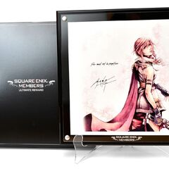 Lightning artwork by Nomura sent to select Square Enix Members.