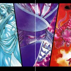 Shiva, Hein, & Ifrit color art.