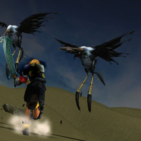 Tidus fighting Alcyones.