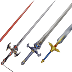 Cecil's Lustrous Sword's in EX Mode.
