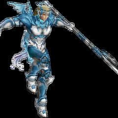 Render do EX Mode de Kain, baseada no Soldado-Dragão Santo.