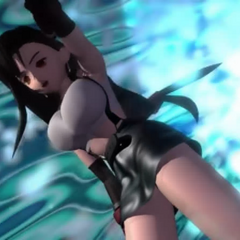 Tifa in the additional FMV for the oversea version and the <i>International</i> version of the game.