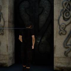 Noctis unlocks a tomb.
