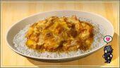 Рис с яйцом и мясом птицы