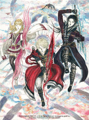 FFBE trio - Amano illustration