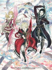 FFBE trio - Amano illustration